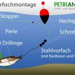 Köderfischmontage auf Hecht und Zander