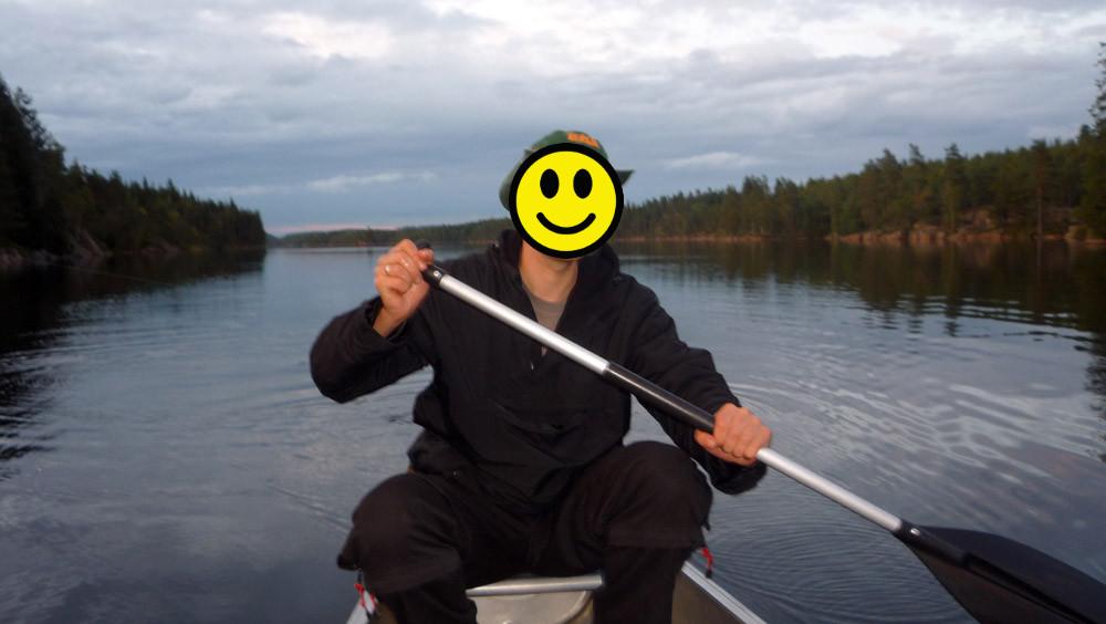 Kanu-Paddeln in Schweden