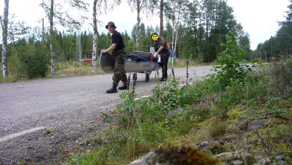 Kanu ziehen in Schweden